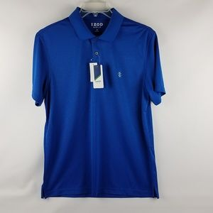 IZOD Men Performance Golf True Blue Short Sleeve